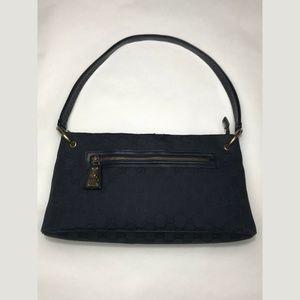Gucci Guccissima black canvas bag